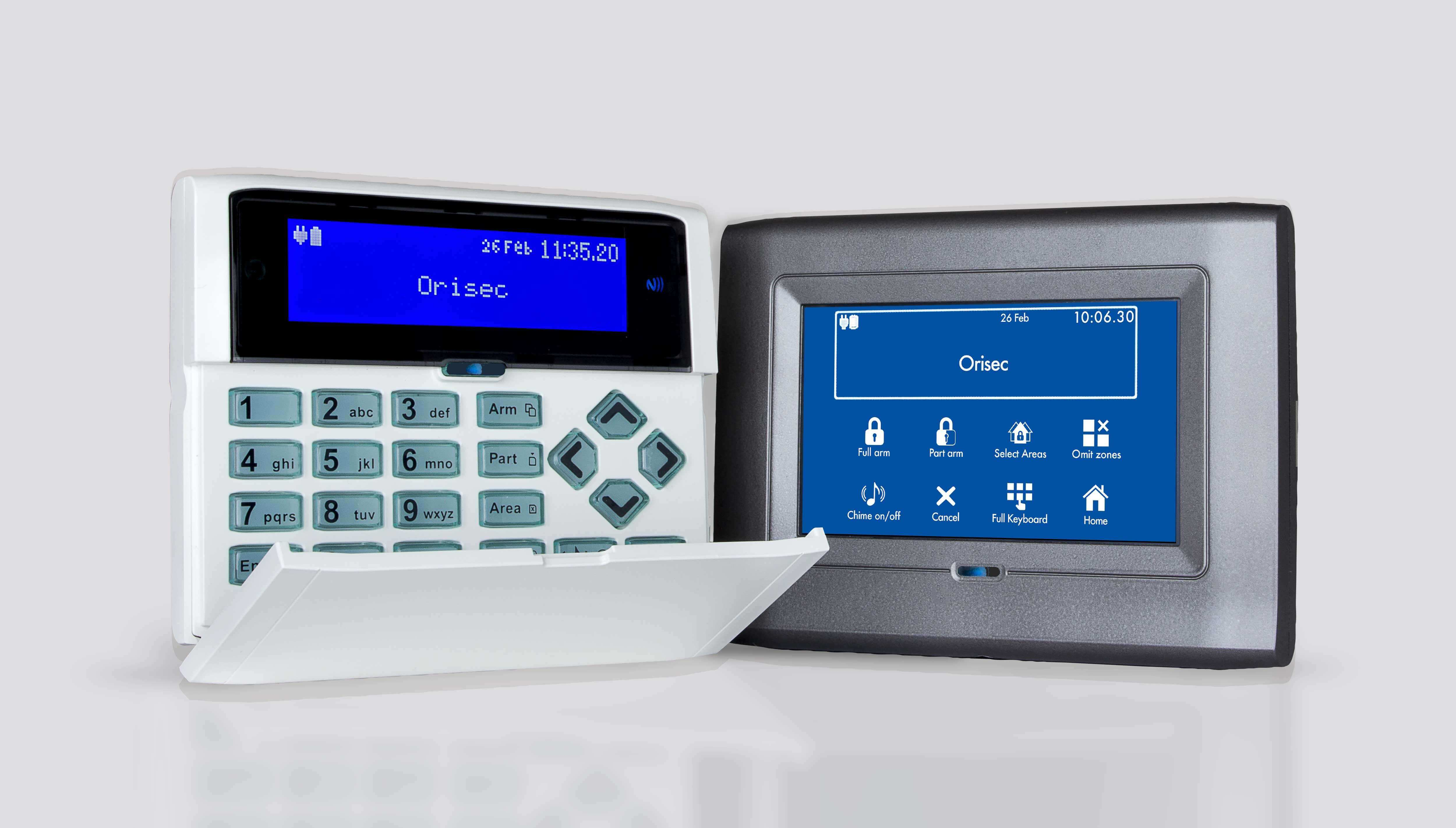 orisec keypads wired and wireless